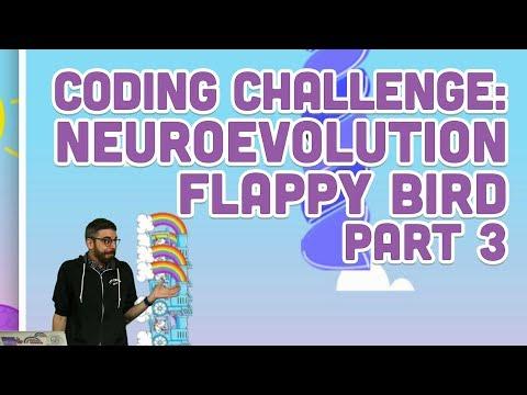 Coding Challenge #100.3: Neuroevolution Flappy Bird - Part 3