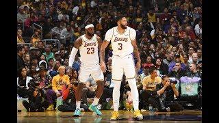 LeBron James & Anthony Davis Showed Out At Staples Center vs. Warriors