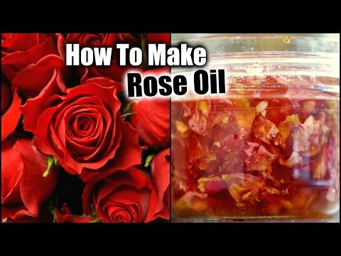 HOMEMADE ROSE OIL │DIY ROSE OIL FOR ACNE, WRINKLES, SILKY HAIR, DRY SKIN, OILY SKIN, SMOOTH HAIR