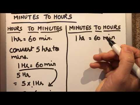 HOW TO CONVERT HOURS TO MINUTES AND MINUTES TO HOURS.