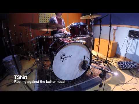 Bass Drum Muffling Comparison Pillow/Blanket/No Muffling