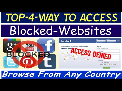 How to access Blocked Websites and Browse any websites from any country using Proxy & VPN