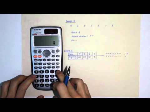 Finding Mean, Standard Deviation using Calculator