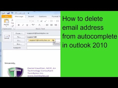 How to delete old email from drop down menu