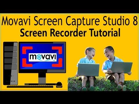 How To Use Movavi Screen Capture Studio 8 Screen Recorder Tutorial Camtasia Alternative
