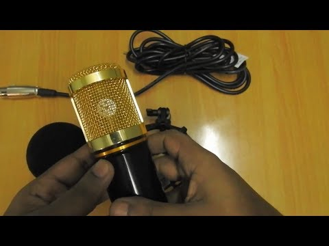 BM 800 Condenser Microphone Unboxing | Sound Recording Test with Sound Card & Phantom Power Supply