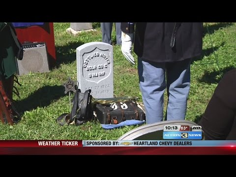 Military headstone dedicated for Civil War veteran in Omaha cemetery