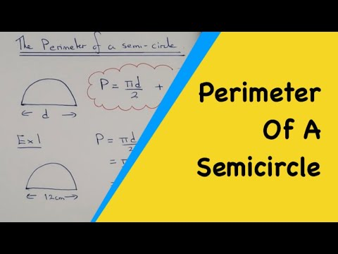 How to work out the perimeter of a semi-circle, including formula and examples.