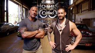 "The Rock and Roman Reigns talk about family and ""Hobbs & Shaw"""