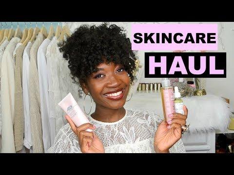 Skincare Haul + New Skincare Routine For Textured Skin | Origins, Shea Moisture & More | Dark Skin