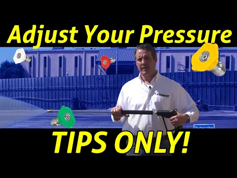 How to Adjust the Pressure on a Power Washer-The Right Way