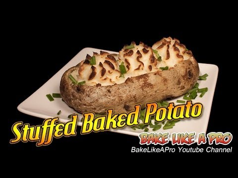 Stuffed Baked Potato Recipe ! - Fluffy ! - Sour cream and cheese