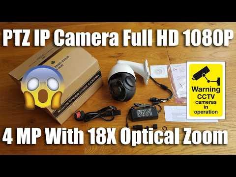 WGCC PTZ IP Camera H.264/H.265 Onvif 4 MP Full 1080P 18X Optical Zoom [Hands on Review and Test]