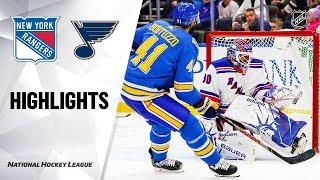 NHL Highlights Rangers Blues 11120