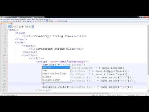 JavaScript - String Functions