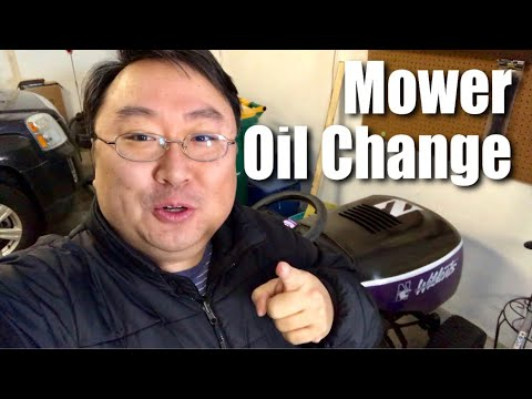 How to change the oil in a riding lawn mower