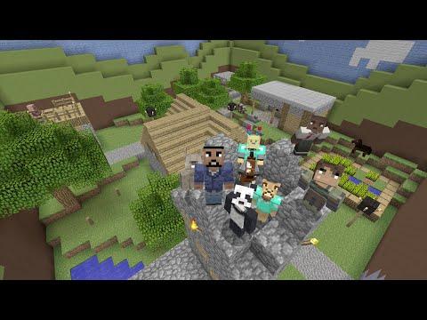 Minecraft (Xbox 360) - NPC Village - Hide and Seek