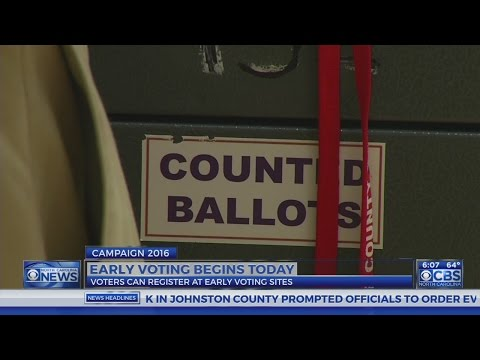 Early voting begins today across NC