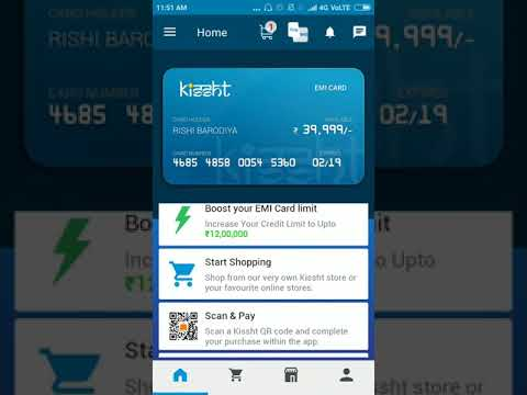 How to use Kissht app / online shopping on emi without credit card / pay EMI without interest