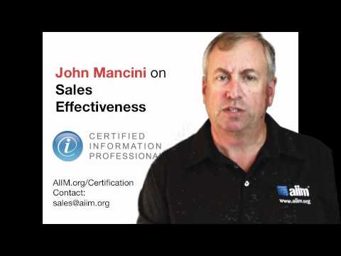 John Mancini on Sales Effectiveness