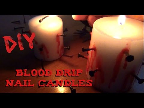 DIY Décor ♥ Blood Drip Candles