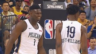 Zion Williamson First Bucket With Pelicans In NBA Debut! Knicks vs Pelicans 2019 NBA Summer League