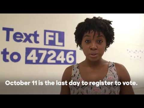 You only have a few days left to register to vote in Florida