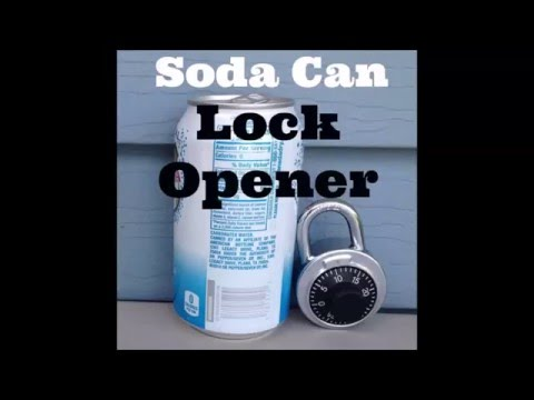 How To Open a Lock With a Soda Can