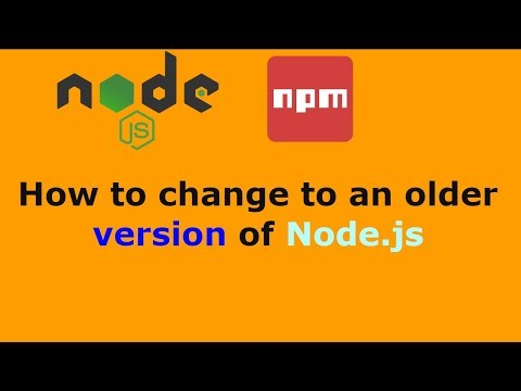 How to change to an older version of Node.js