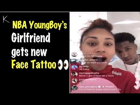 Jania Gets NBA YoungBoy's Name Tatted On Her Face