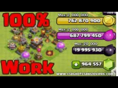 Clash of clans real hack 💯 % with surity GEMS 💎 GOLD,EXILER AND DARK EXILER