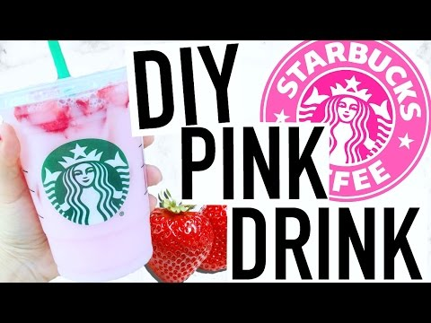 DIY STARBUCKS PINK DRINK! Coffee Free Refresher!