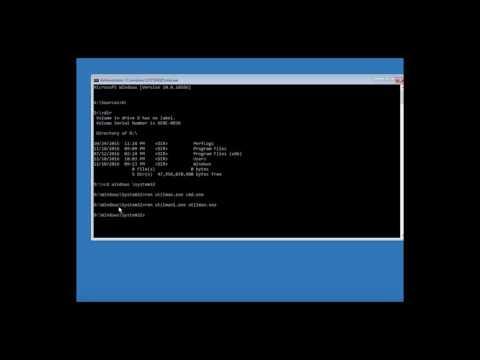 Windows password Reset part 2 - copying back the correct utilman.exe
