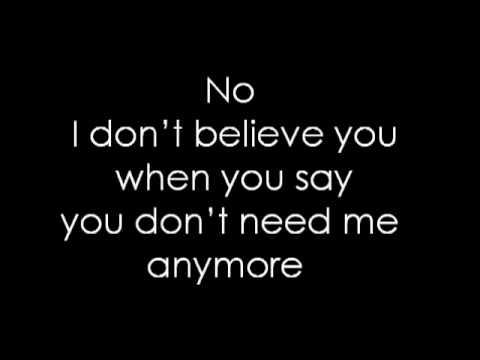 Pink ~ I don't believe you Lyrics