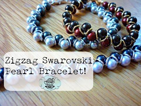 DIY Zigzag Swarovski Pearl Bracelet ¦ The Corner of Craft
