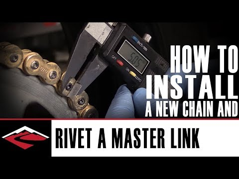 How to install a new motorcycle chain and how to rivet the master link