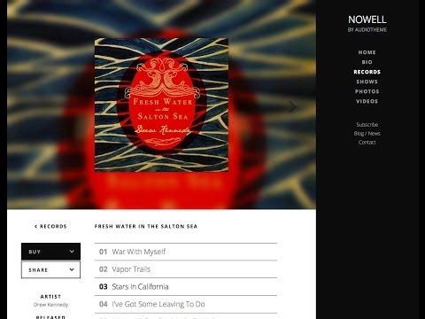 Nowell Music WordPress Theme Overview