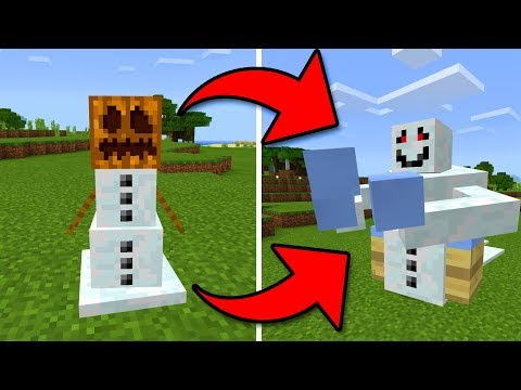 How to UPGRADE a snow golem in Minecraft Pocket Edition