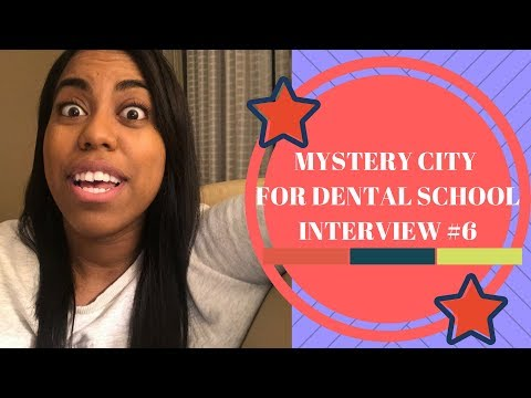 Mystery Dental School Interview #6 + Letters of Rec | Dental School Interviews