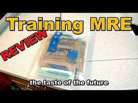 Training MRE review - open and eat