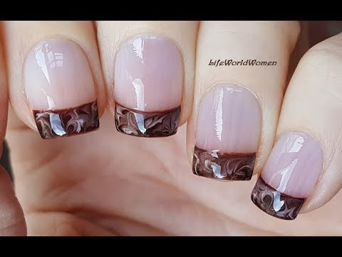 FRENCH MANICURE DESIGNS #4 / Chocolate Nail Tips