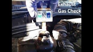 Mercedes-benz Exhaust Gas Check In Water Reservoir