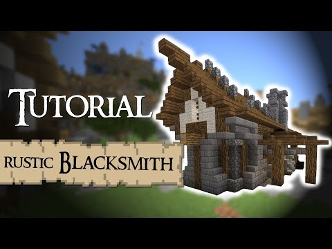 BLACKSMITH (rustic) Medieval Minecraft Tutorial