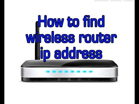 How to find wireless router ip address and access it