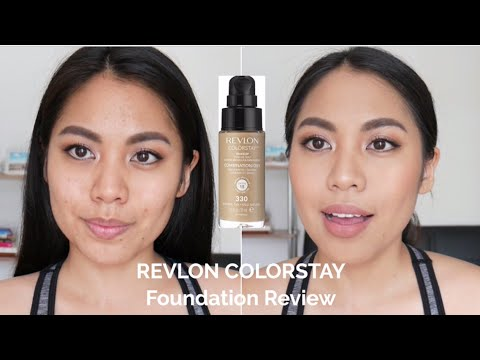 REVIEW - Revlon Colorstay Foundation for Combi/Oily Skin | TAGALOG w/ ENGLISH subs (Philippines)