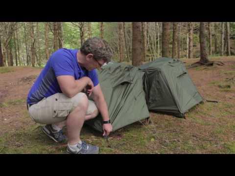 Crua Hybrid - Tent / Hammock Duo tent setup