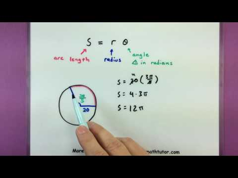 Trigonometry - Finding the arc length of a circle