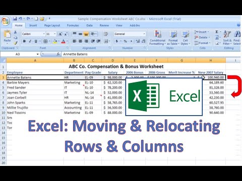 Excel How-To: Moving and Relocating Rows and Columns