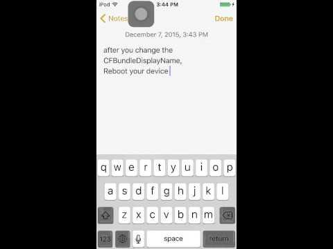 How to change App Display name on iphone / ipod / ipad.  (jailbreak)