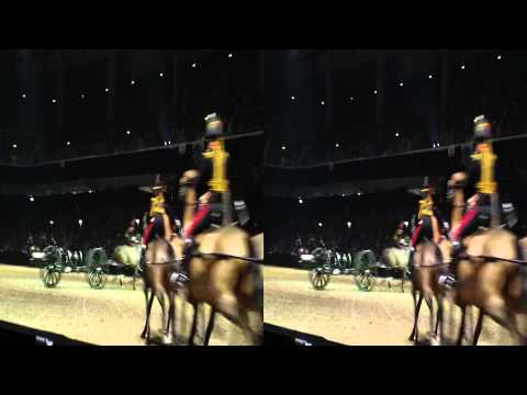 horses with the gun carriages @ british military tournament - 3D